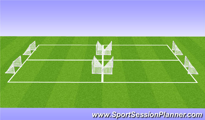 Football/Soccer Session Plan Drill (Colour): Small-Sided Arrival Game