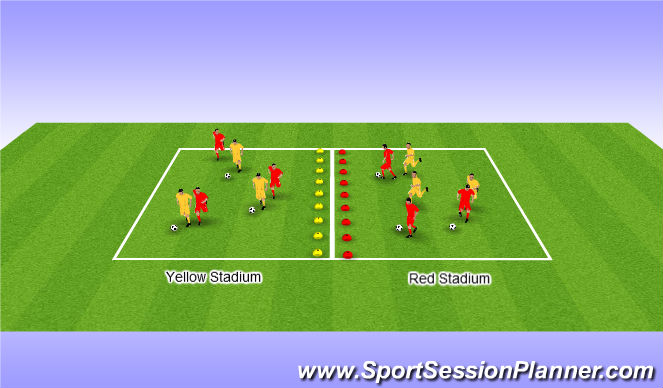 Football/Soccer Session Plan Drill (Colour): Home Stadium