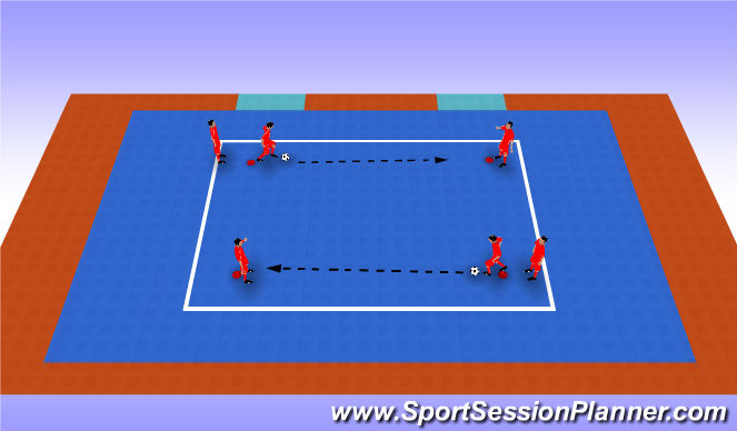 Futsal Session Plan Drill (Colour): Technical Warm Up