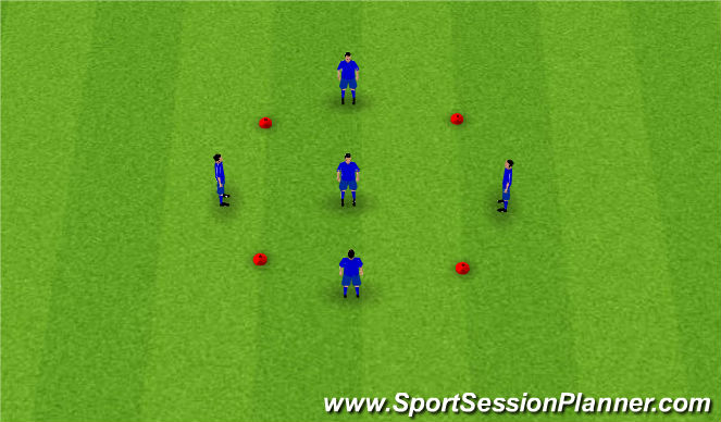 Football/Soccer Session Plan Drill (Colour): Pre Arrival