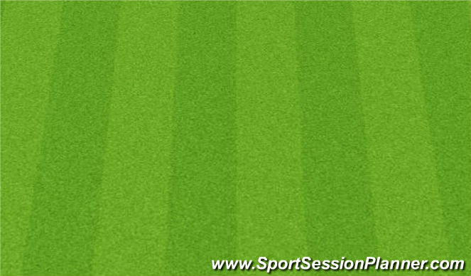 Football/Soccer Session Plan Drill (Colour): Warm Up - Declan