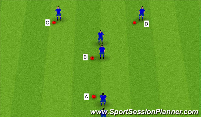 Football/Soccer Session Plan Drill (Colour): Y - Passing Drill