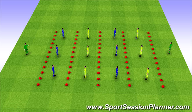 Football/Soccer Session Plan Drill (Colour): Barcelona with Target Men