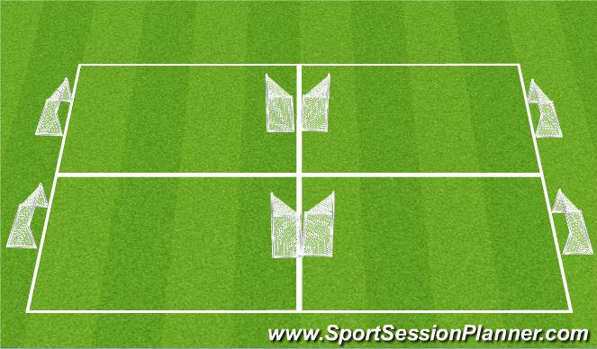 Football/Soccer Session Plan Drill (Colour): Boys PD 5-8
