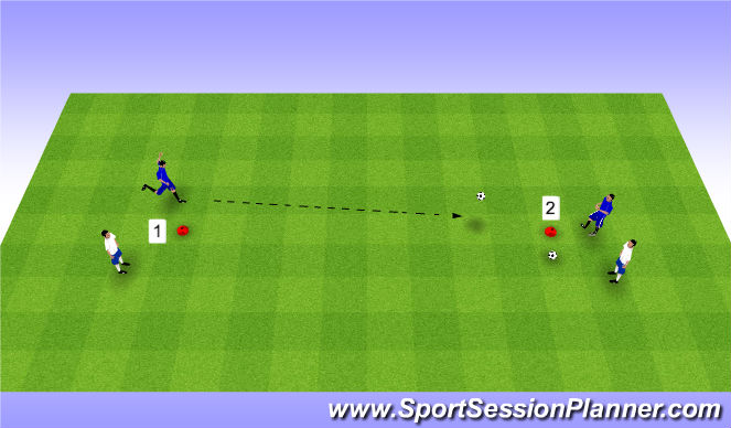 Football/Soccer Session Plan Drill (Colour): Horseshoe Game