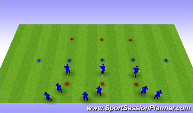Football/Soccer Session Plan Drill (Colour): Forge FC Warm Up
