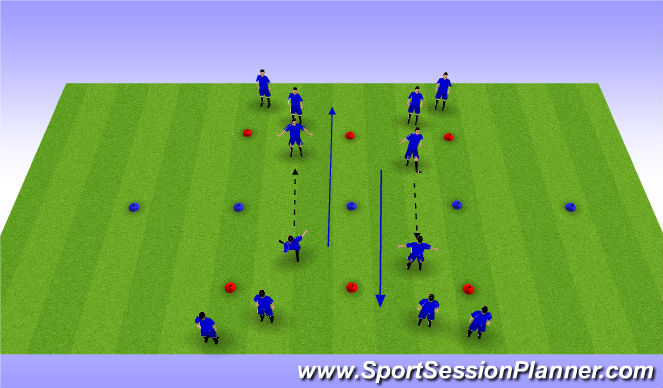 Football/Soccer Session Plan Drill (Colour): Forge FC Warm Up - Passing