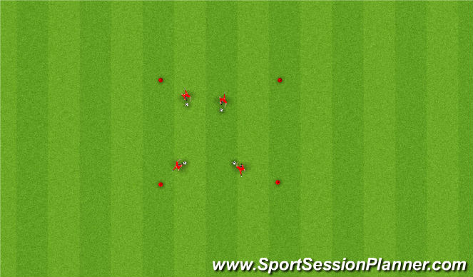 Football/Soccer Session Plan Drill (Colour): Moves In Free Space