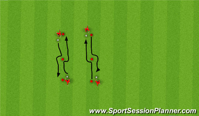 Football/Soccer Session Plan Drill (Colour): Moves At Speed Straight