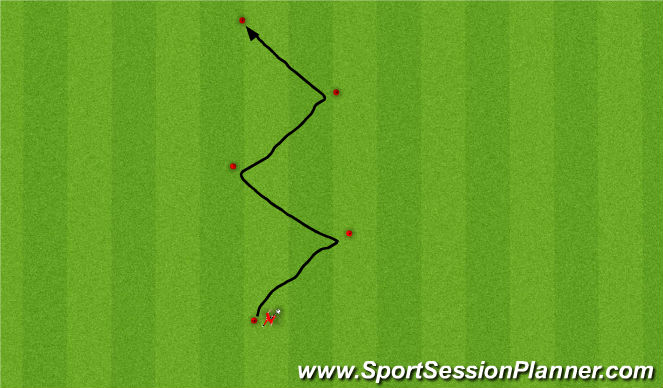 Football/Soccer Session Plan Drill (Colour): Moves At Speed Angle