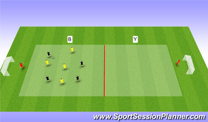 Football/Soccer Session Plan Drill (Colour): Bulding tranistion game