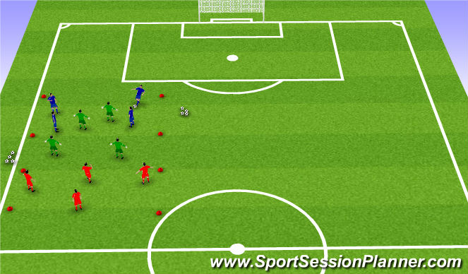 Football/Soccer Session Plan Drill (Colour): PRESSING SESSION