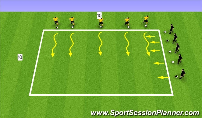 Football/Soccer Session Plan Drill (Colour): Ball Mastery 6