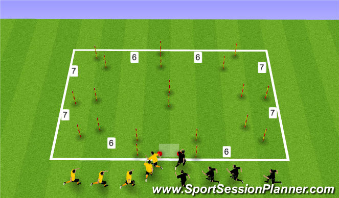 Football/Soccer Session Plan Drill (Colour): Activation 3