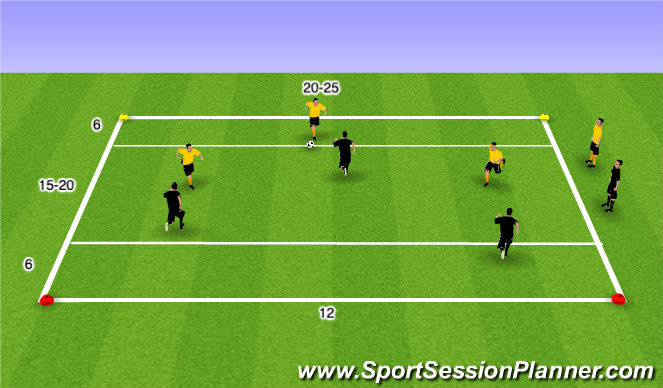 Football/Soccer Session Plan Drill (Colour): TG FUNiño Line Game