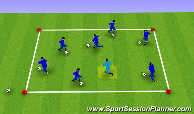 Football/Soccer Session Plan Drill (Colour): Odd Man Out