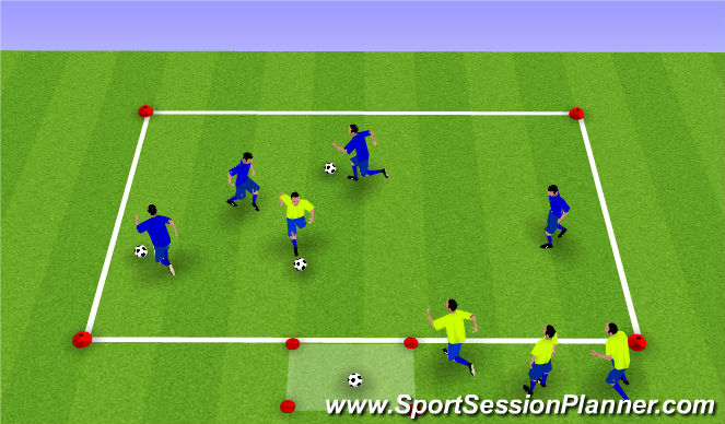 Football/Soccer Session Plan Drill (Colour): Team Retrieve