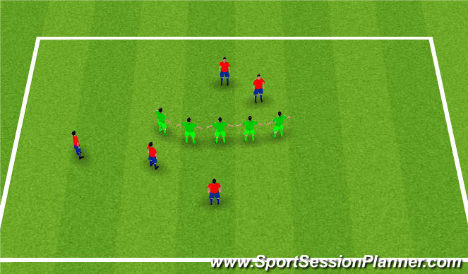 Football/Soccer Session Plan Drill (Colour): Stick together