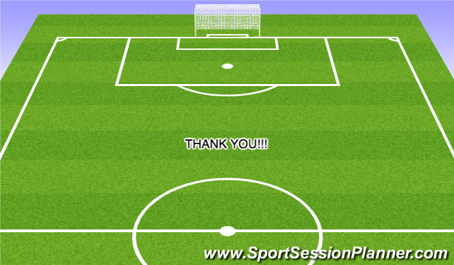 Football/Soccer Session Plan Drill (Colour): Thank You!