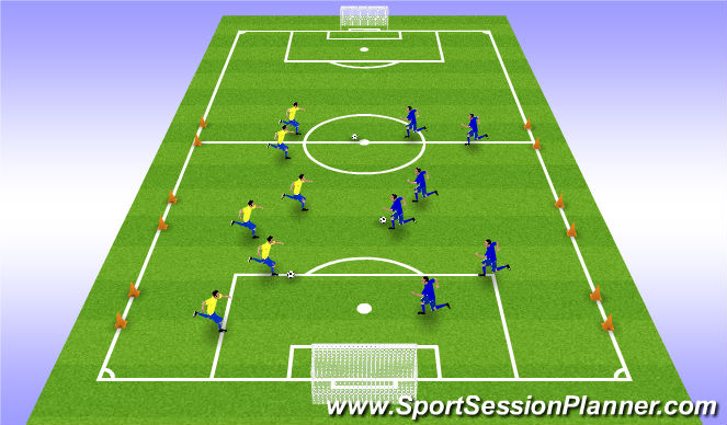 Football/Soccer Session Plan Drill (Colour): Arrival activity - SSGs