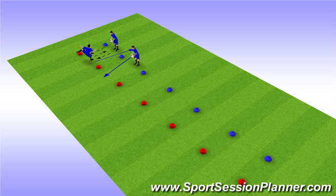 Football/Soccer Session Plan Drill (Colour): Bobby Arms
