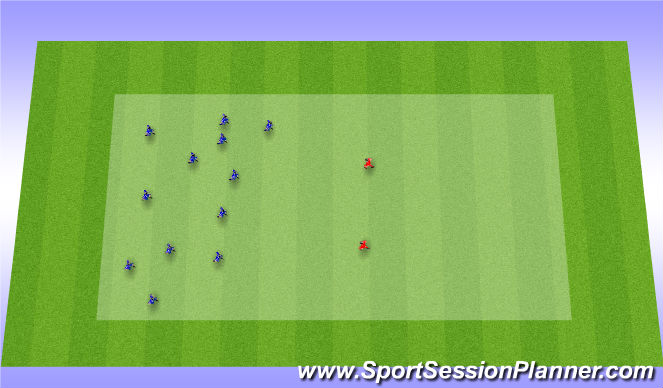 Football/Soccer Session Plan Drill (Colour): Bulldog Warm up