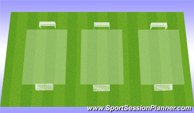 Football/Soccer Session Plan Drill (Colour): 3v3 - Tourney