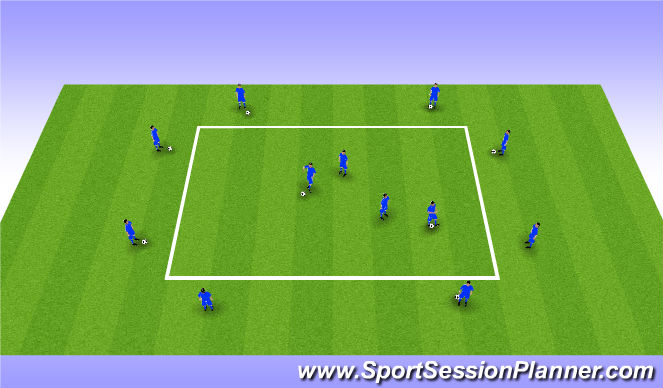 Football/Soccer Session Plan Drill (Colour): Set & Pass Endurance