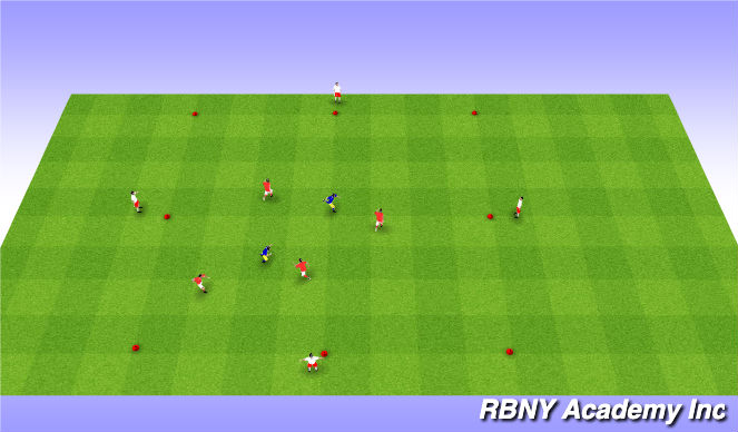Football/Soccer Session Plan Drill (Colour): Races (Tag)
