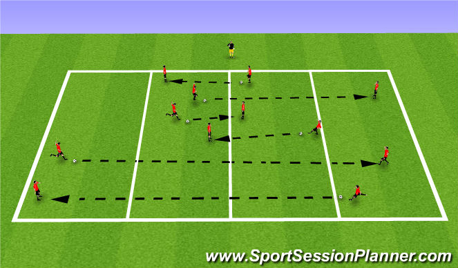 Football/Soccer Session Plan Drill (Colour): Working in Pairs