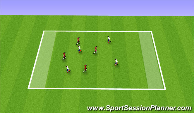 Football/Soccer Session Plan Drill (Colour): August 14th BU8's ADP