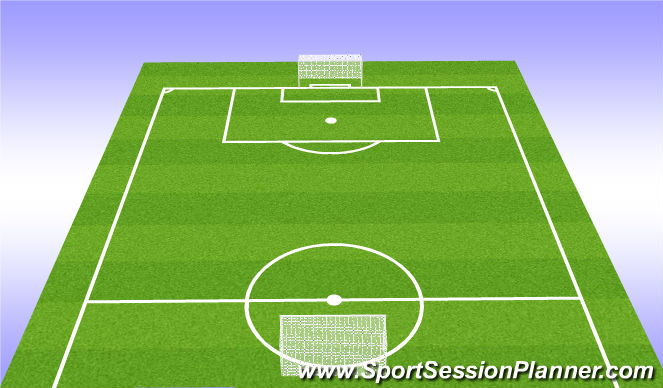 Football/Soccer Session Plan Drill (Colour): Team Talk & Warm Up