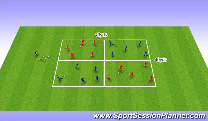 Football/Soccer Session Plan Drill (Colour): SSG (conditioned)