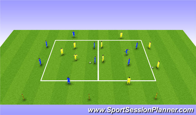 Football/Soccer Session Plan Drill (Colour): Rondo/Run