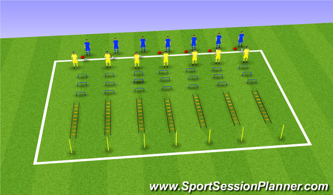 Football/Soccer Session Plan Drill (Colour): Technique Circuit