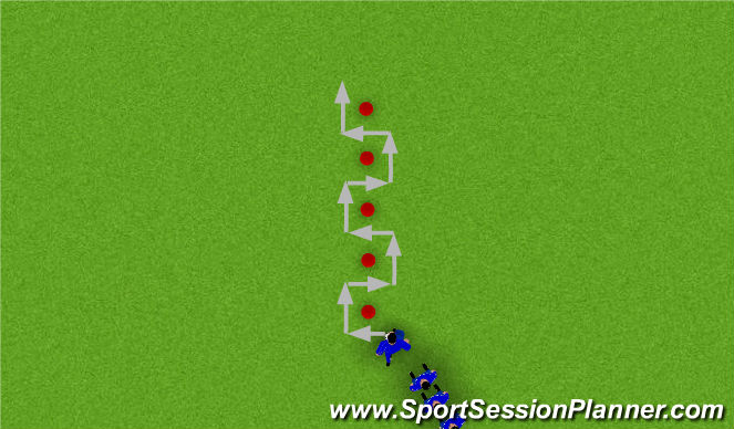 Football/Soccer Session Plan Drill (Colour): Animation