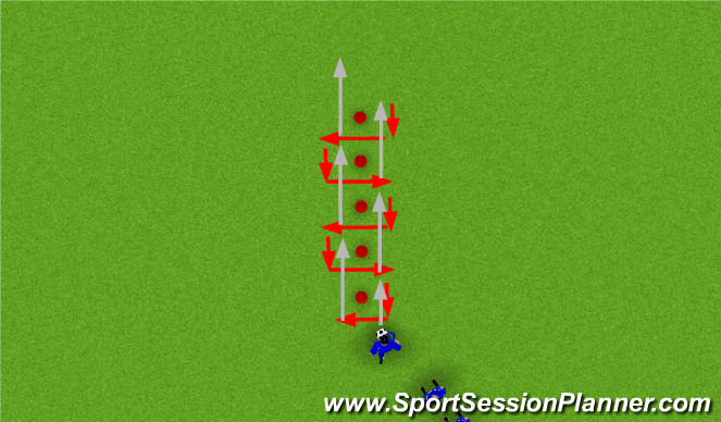 Football/Soccer Session Plan Drill (Colour): Wayne Rooney - Ball Skills