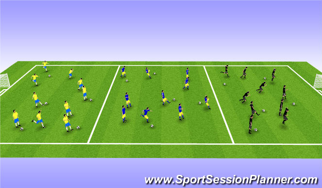 Football/Soccer Session Plan Drill (Colour): Int WarmUp