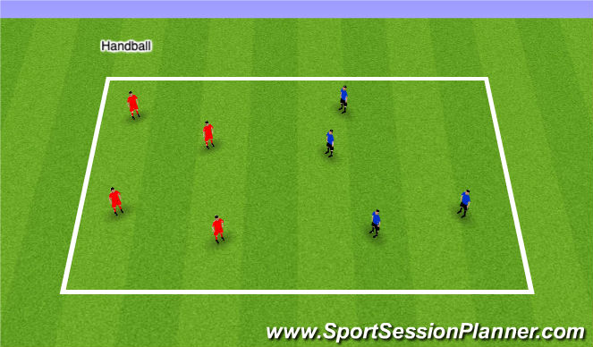 Football/Soccer Session Plan Drill (Colour): Beach Vball