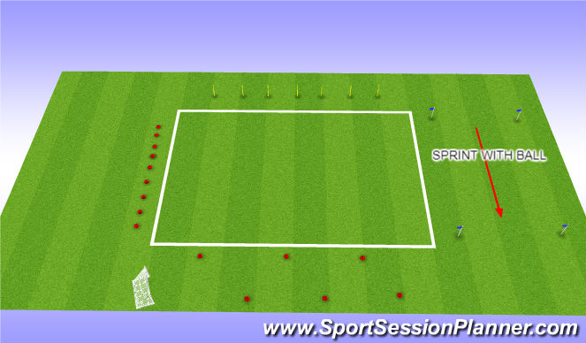 Football/Soccer Session Plan Drill (Colour): Ball Related Circuit