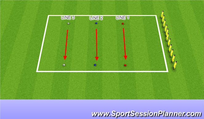 Football/Soccer Session Plan Drill (Colour): Strength Test