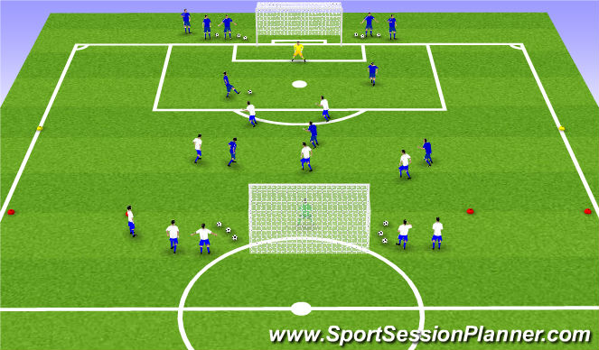 Football/Soccer Session Plan Drill (Colour): Spil - Lotuleikur: