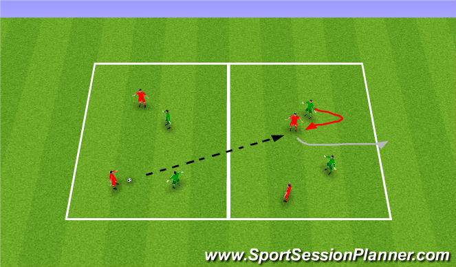 Football/Soccer Session Plan Drill (Colour): First game