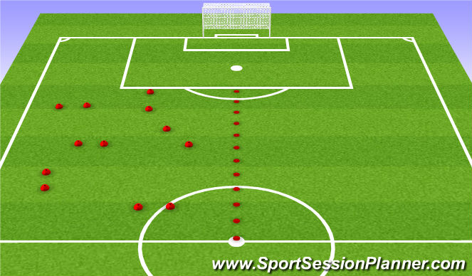 Football/Soccer Session Plan Drill (Colour): Mobile Gate Passing