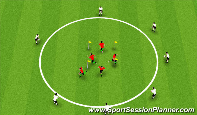 Football/Soccer Session Plan Drill (Colour): Skills with Movement