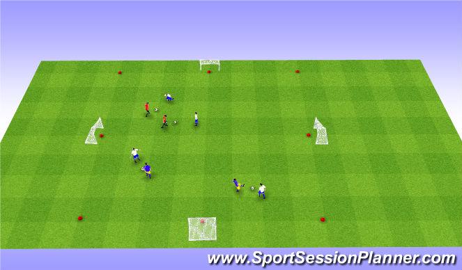 Football/Soccer Session Plan Drill (Colour): 1v1 x 5