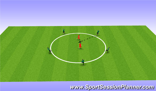 Football/Soccer Session Plan Drill (Colour): Warm Up/ activation