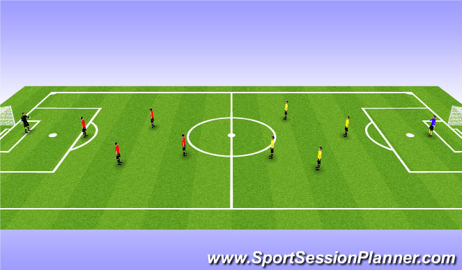Football/Soccer Session Plan Drill (Colour): SSG - 20 min