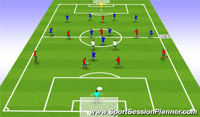 Football/Soccer Session Plan Drill (Colour): training 1 11 VS 11