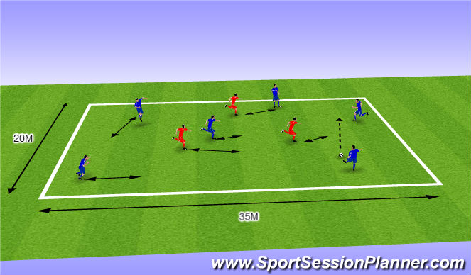 Football/Soccer Session Plan Drill (Colour): TR2(6V3)